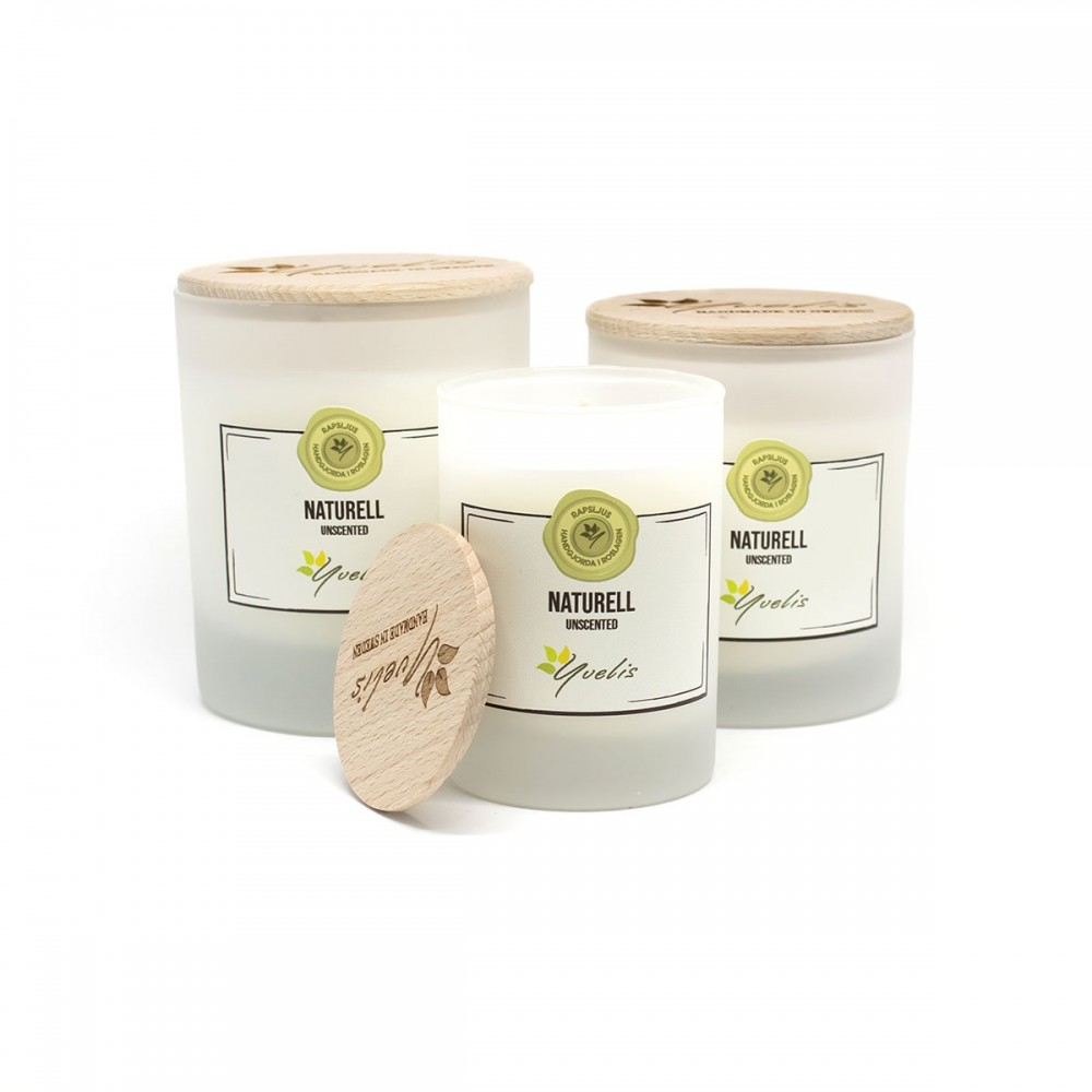 Unscented rapeseed candle - Naturell - Rapsljus