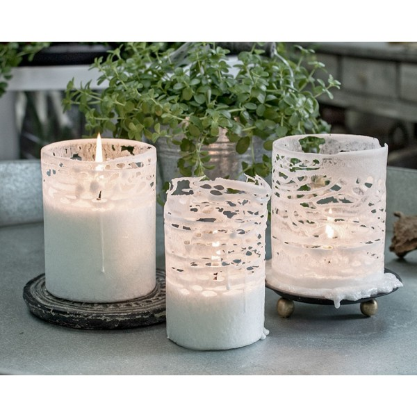 Unscented rapeseed wax candle