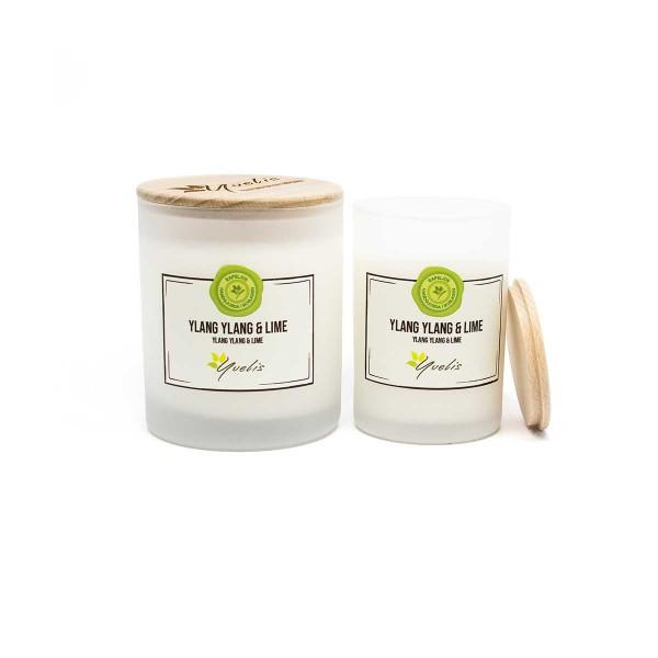 Doftljus med eterisk olja - Ylang Ylang & Lime