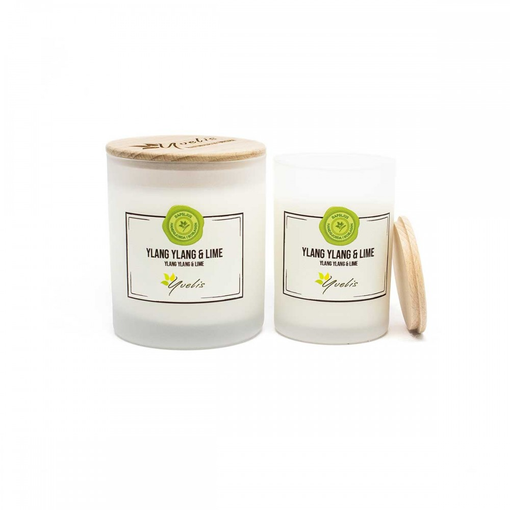 Essential scented candles - Ylang Ylang & Lime - Eterisk doft