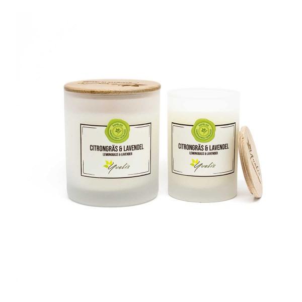 Doftljus med eteriska dofter - Citrongräs & Lavendel