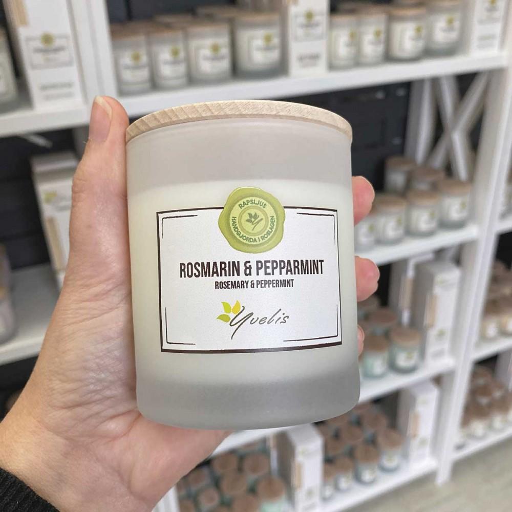 Essential scented candles - Rosmarin & Pepparmint - Eterisk doft