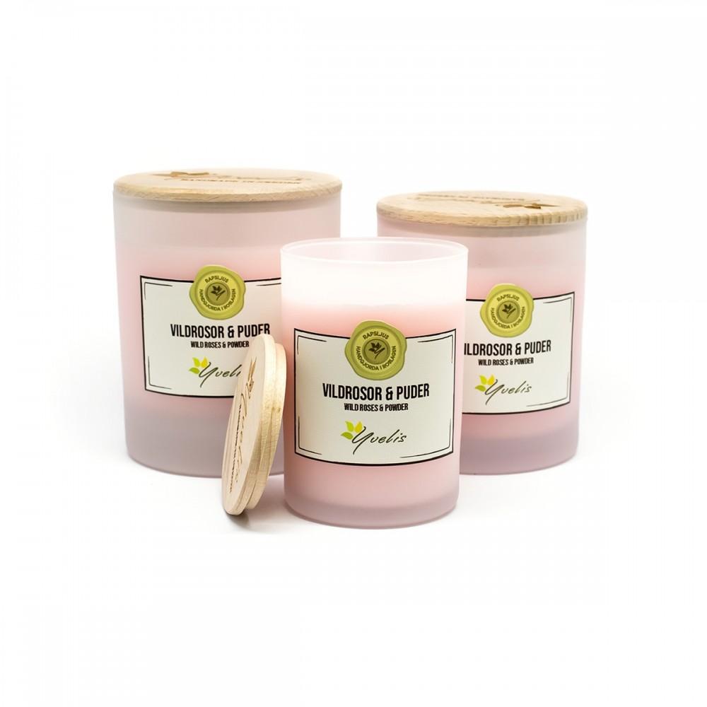 Scented candles - Vildrosor & Puder