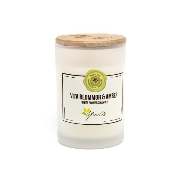 Litet ljus - Vita Blommor & Amber