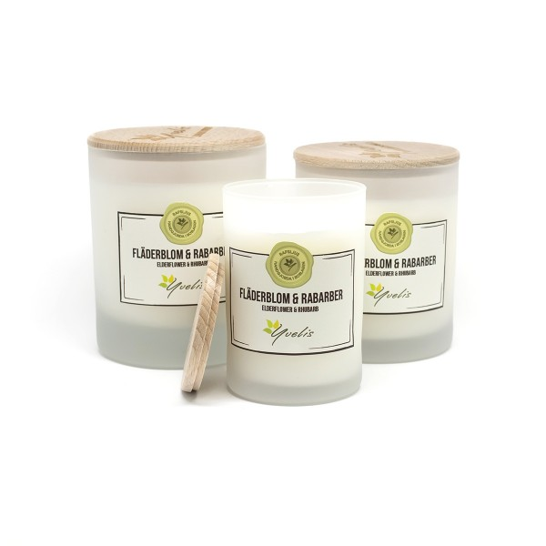 Elderflower & Rhubarb scented candle
