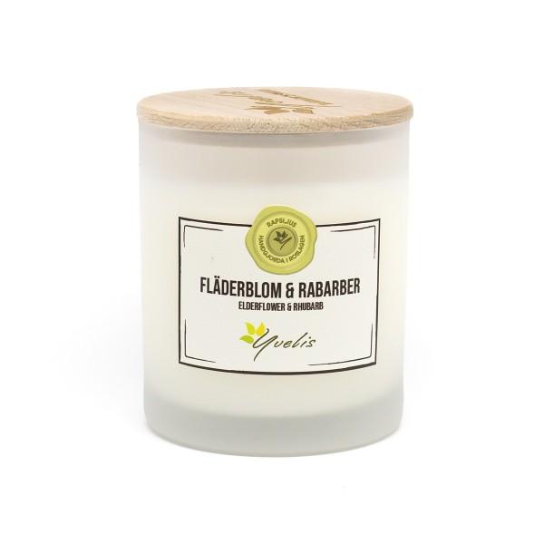 Elderflower & Rhubarb scented candle